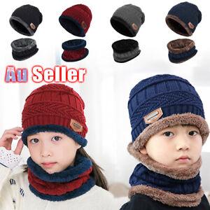 2 in 1 Winter Warm kids Baby Knitted Beanie Cap Boy Girl Soft Hat Scarfves Child