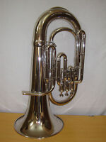 SUMMER VACATION SALE!!! NEW SILVER CHROME PLATED Bb EUPHONIUM WITH FREE CASE+M/P