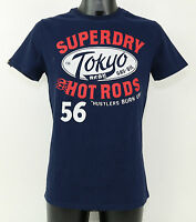 SuperDry T-Shirt - MS1FA549S 98T 'TOKYO HOT RODS' REWORKED CLASSIC TEE +NEU+