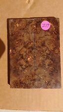 STABILIZED & DYED MAPLE BURL WOOD KNIFE SCALES/BLANKS/HANDLES/GRIPS. Z-19