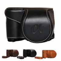 Portable Durable Leather Camera Bag Case Cover Pouch For Sony A6000 A6300 NEX6