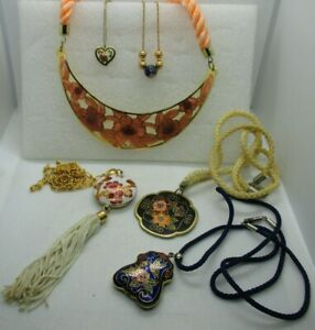 Cloisonn\u00e9 Enamel Vintage Jewelry Rose Charm or Pendant