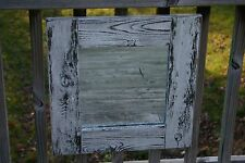 Reclaimed Cedar Distressed Rustic Handmade Square Wall Mirror Black & White