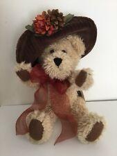 "Nwt Valentine Bear - Boyds Bear Miss Hedda Bearimore 12"" Jointed Velvet Hat"