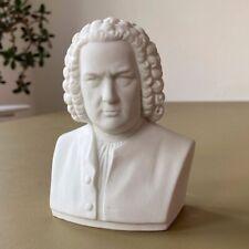 Weiße Bisquit Porzellan Büste J. S. Bach, gemarkt Rudolf Kämmer, Rudolstadt II