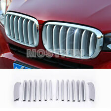 14pcs ABS Matte Front Center Grill Grille Cover Trim For BMW X5 F15 2014-2018