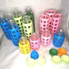 Lifefactory Glass Baby Bottle Set Lot Of 9 Silicone Sleeve BPA-Free Bottles EUC