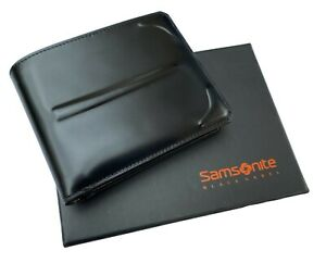 Exclusive SAMSONITE Black LABEL BAYAMO Bifold Leather WALLET 9cc Pass Black