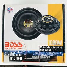 """BOSS Audio Systems D120FD Dual Voice Flat Subwoofer 1000 Watts 12"""" NEW(other)"""