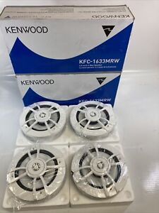 Kenwood KFC-1633MRW Marine Speakers, Set Of 4.