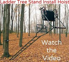 Ladder Tree Stand Installation Hoist System - Easily Safely Set Up a Tree Stand