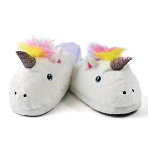 UNICORN COMFY GIRLS WOMENS CUTE LOUNGE INDOOR SLIPPERS FITS UP TO SIZE 7 NEW