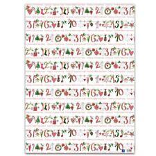 *ACUFACTUM*Geschenkpapier*Weihnachten*50 x 70cm*KERSTIN HESS*Weihnachtsgirlande*