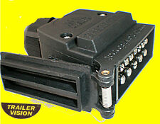 LED 12 Pin Trailer Plug with One Blue Flashing for Elect Brake