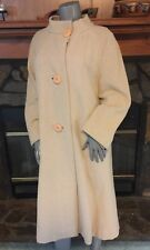 Vintage 60's Beige Wool Swing Coat by Lassie Tall Size L