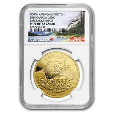 2015 Canada 1 oz Gold $200 Largemouth Bass PF-70 NGC
