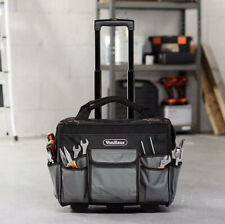 Rolling Tool Bag With Wheels Pockets Electrician Plumber Heavy Duty Carrier Zips