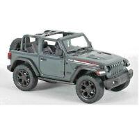"2018 Jeep Wrangler Rubicon Conv. Open Top Diecast Model Car 1:34 Scale 5"" GREY"