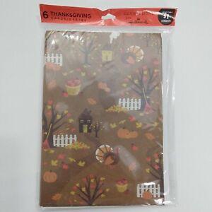 Thanksgiving Hallmark Cards New Sealed Pumpkin Turkey Acorns Fall Harvest