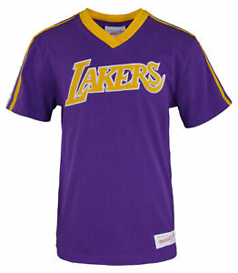 Mitchell & Ness NBA Youth Boys (8-20) Los Angeles Lakers Overtime Win V-Neck Tee
