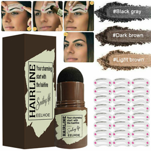 Waterproof Eye Brow Stamp Shaping Kit w/Eyebrow Card Definer Stencils Makeup Set