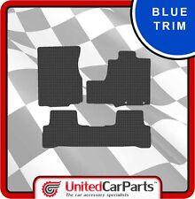 HONDA CRV (2007-2012) RUBBER CAR MATS WITH BLUE TRIM GENUINE UCP 2866