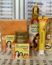 NANO EXTRA WHITE NATURAL PAPAYA & CARROT LOTION + SOAP + FACE CREAM + CREAM TUBE