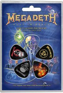 Megadeth Rouille En Paix 5 Plectre Paquet ( Rz )