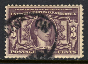 SCOTT 325 1904 3 CENT LOUISIANA PURCHASE EXPOSITION ISSUE USED F-VF CAT $19!
