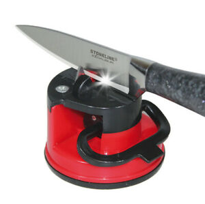 Knife Sharpener Kitchen Easy Quick Suction Base Sharp Knives Blades Scissors