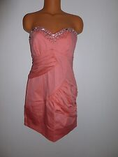 Lipsy NWT size 14 coral orange bling dress  (retails $160) (includes straps)
