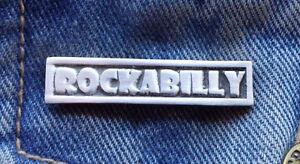 Rockabilly Pewter Pin Badge