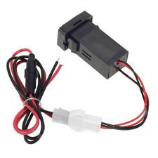 2.1A Durable Car 2 Usb Socket Fuse Phone Charger Audio Input For Toyota