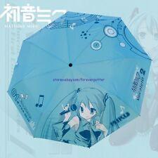 1pc Japan Anime Vocaloid Hatsune Miku Sunshade Windproof Folding Umbrella