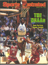 1984 Sports Illustrated Sam Perkins NORTH CAROLINA Immaculate Condition NO LABEL
