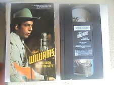Hank Williams Sr. The Show he Never Gave VHS 1981 1644 Tested Country Music