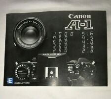 Canon A-1 Camera Instruction Owners Operating Manual User Guide - Excellent!