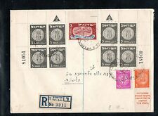 Israel Scott #17 Coins Plate Blocks (Both Plate #'s) on Bank Cover!!