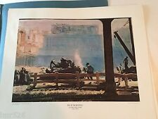 """Vintage Blue Morning by George Bellows Lithograph Print 20"""" x 16"""" ~ 1950-69"""