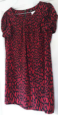 M&S Red Black Shift DRess 16 BNWT New Marks & Spencer 60s Short Mod Party