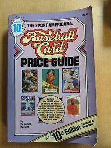 1988 Sport Americana Baseball Card Price Guide book #10 James Beckett