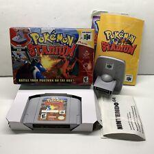 Pokemon Stadium (Nintendo 64 N64) Complete In Box CIB Big Box W/ Transfer Pak