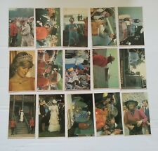 15 x PRINCESS DIANA / CHARLES POSTCARDS - IN CANADA 1983 (COMPLETE SET)