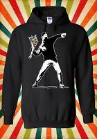 Banksy Flower Thrower Hipster Cool Men Women Unisex Top Hoodie Sweatshirt 456