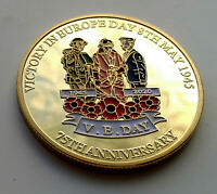VE Day VJ Gold 75th Anniversary World War II Americana Army Navy RAF Peace Old