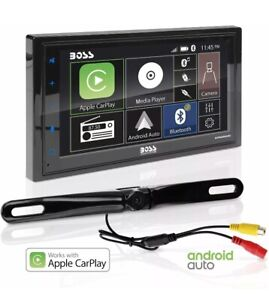 "Boss BCPA9685RC 6.75"" Multimedia Car Receiver +Carplay Android +Rearview Camera"