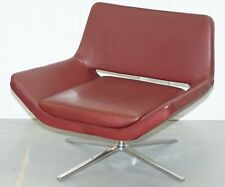 1 OF 4 RRP £3571 EACH B&B ITALIA METROPOLITAN LEATHER ARMCHAIRS JEFFREY BERNETT
