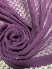 """7momme 100% Pure Mulberry SILK CRINKLE FABRIC....By The Yard X 45""""...PURPLE"""