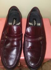 Burgundy hush Puppies mens slip on loafer shoes 18945 10.5 EW