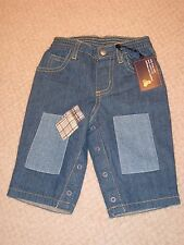 Nwt Adorable Baby Gap Lined Patch Jeans 3-6 Months Boy